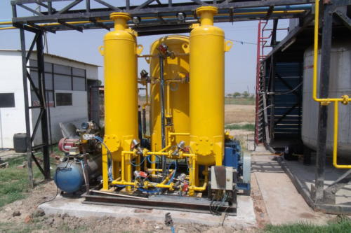 PSA Based biogas purification system at Muni Seva Ashram, Goraj, Waghodia, Gujarat